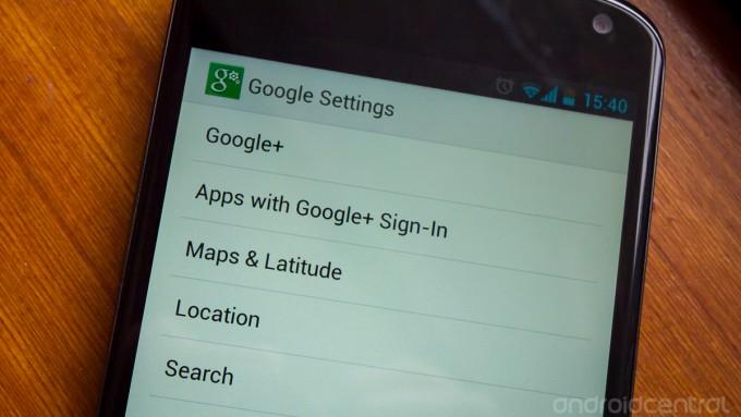 La nouvelle application « Paramètres Google » apparue aujourd'hui sur votre écran