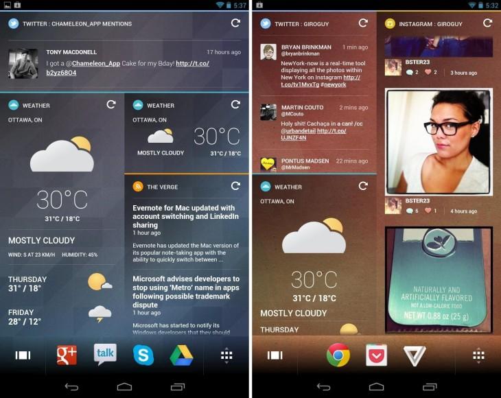 Chameleon Launcher optimisé pour les smartphones maintenant disponible sur Google Play