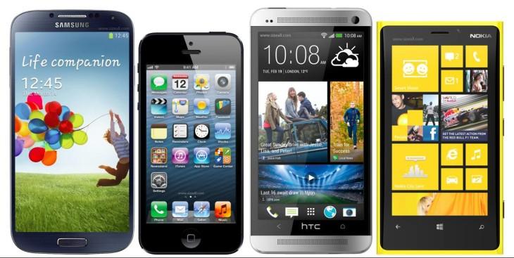 Le Samsung Galaxy S4 bien au déssus de l'iPhone 5