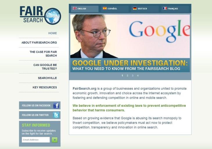 Pourquoi FairSearch essaie-t-il de détruire Google?