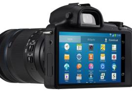 Des photos de l'appareil photo Samsung Galaxy NX
