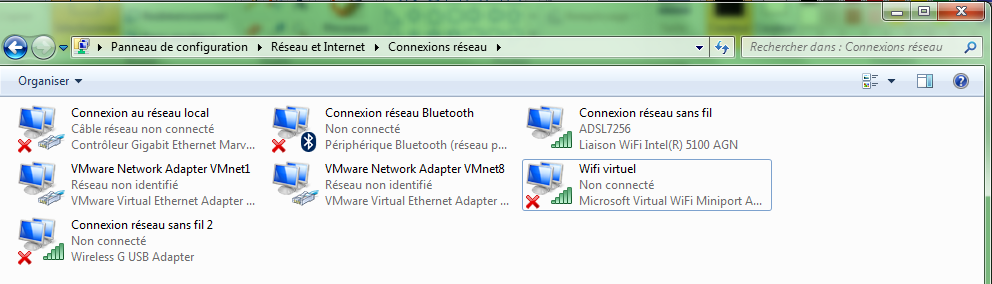 partager connexion internet windows 7