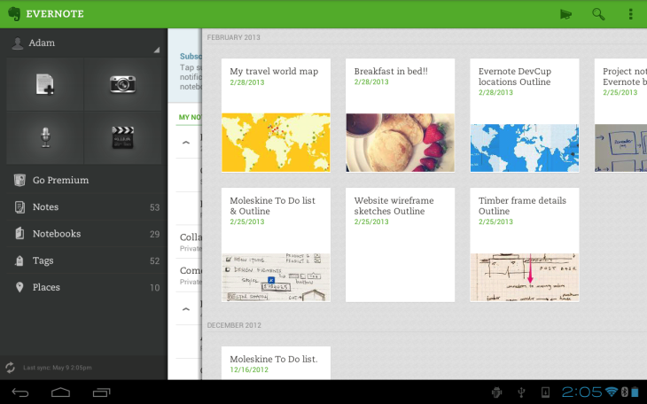 La mise à jour d'Evernote pour Android nous propose l'écriture manuscrite