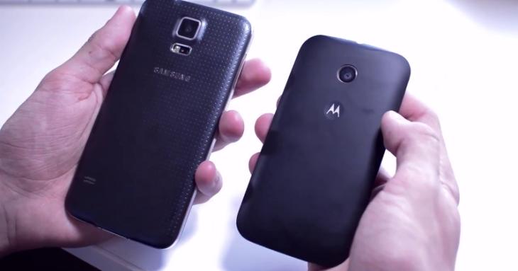 Le Moto E peut se dresser fièrement contre le Galaxy S5
