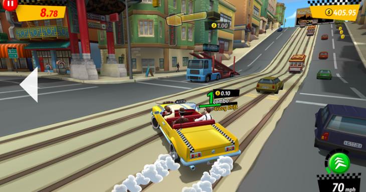 City Rush est un remake de Crazy Taxi sur Android