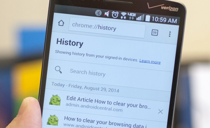 Comment effacer les données de navigation dans Chrome pour Android