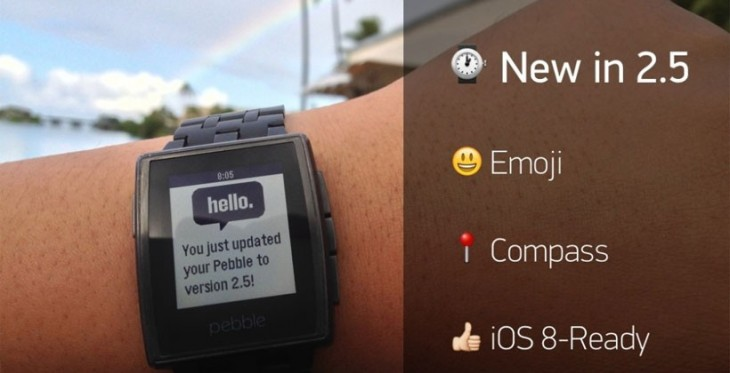 Pebble lance le Firmware 2.5 avec le support de l'Emoji