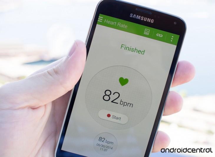 Comment utiliser le moniteur cardiaque sur le Galaxy S5 ?