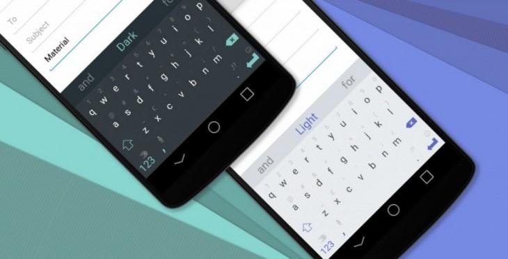 Swiftkey publie 2 thèmes pour le Material Design