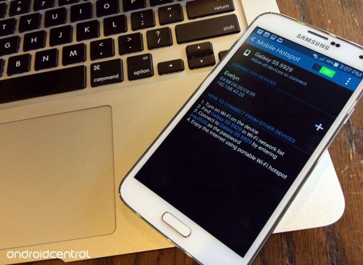 Comment utiliser votre Galaxy S5 comme une borne mobile sans-fil
