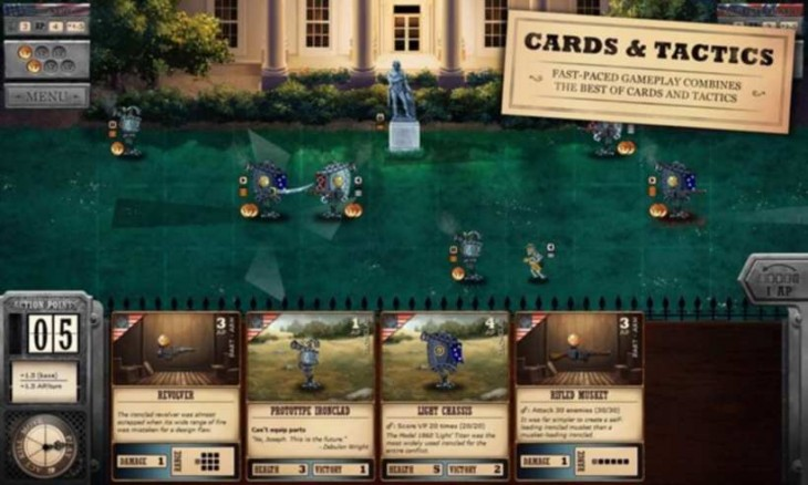 Ironclad Tactics est un jeu de cartes basé sur des combats de robots