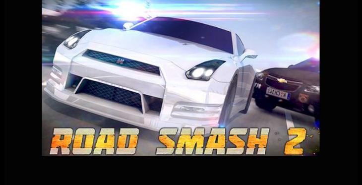 Road Smash 2 est un jeu de course 3D pour les appareils haut de gamme