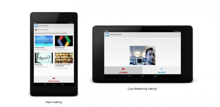 Youtube propose des possibilités de diffusion en Live pour Android Mobile