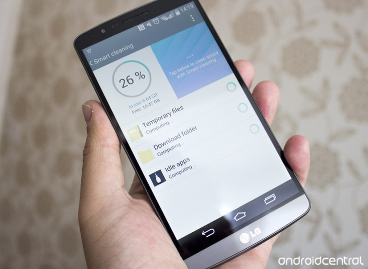 Comment libérer de l'espace sur le LG G3 avec le Smart Cleaning