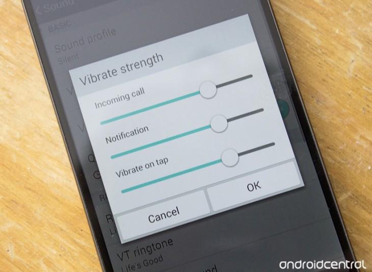 Comment changer la force du vibreur sur le LG G3