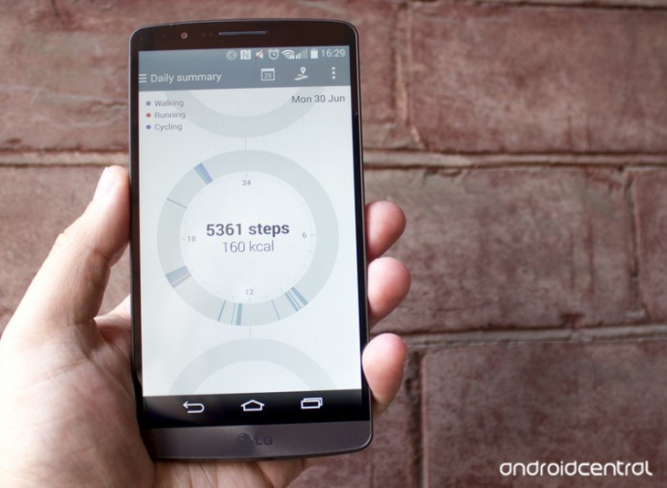 Utiliser l'application LG Health sur le LG G3