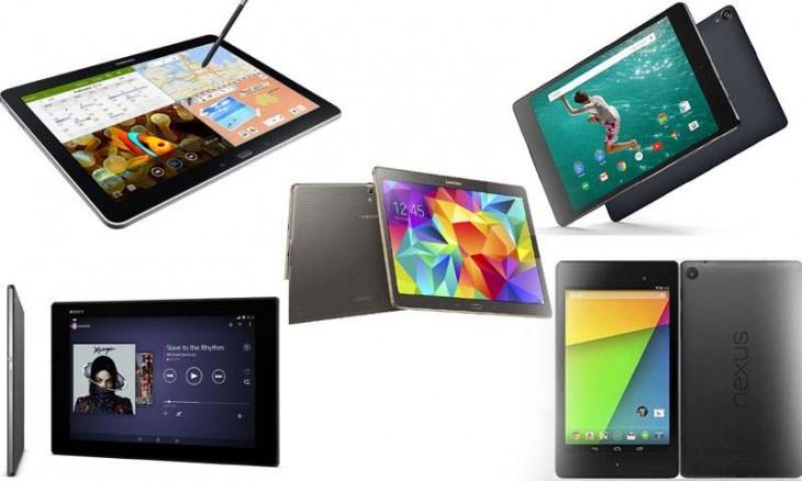 Les 5 meilleures tablettes tactiles de 2014