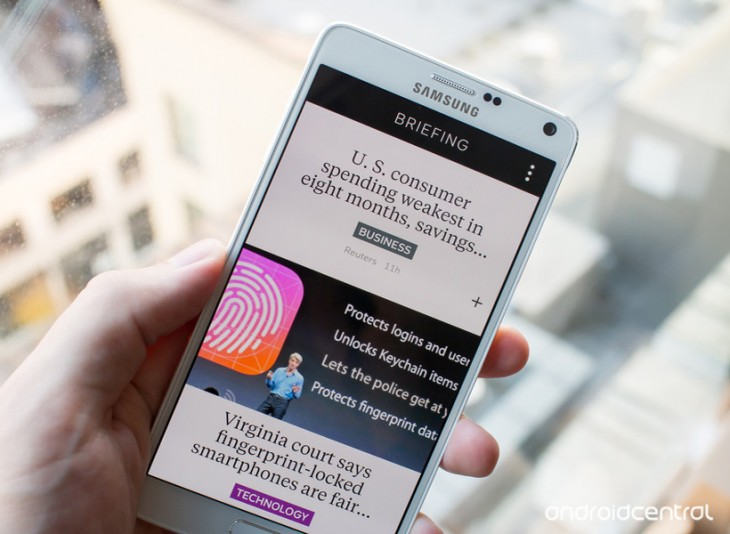 Comment désactiver  » Briefing  » sur le Galaxy Note 4