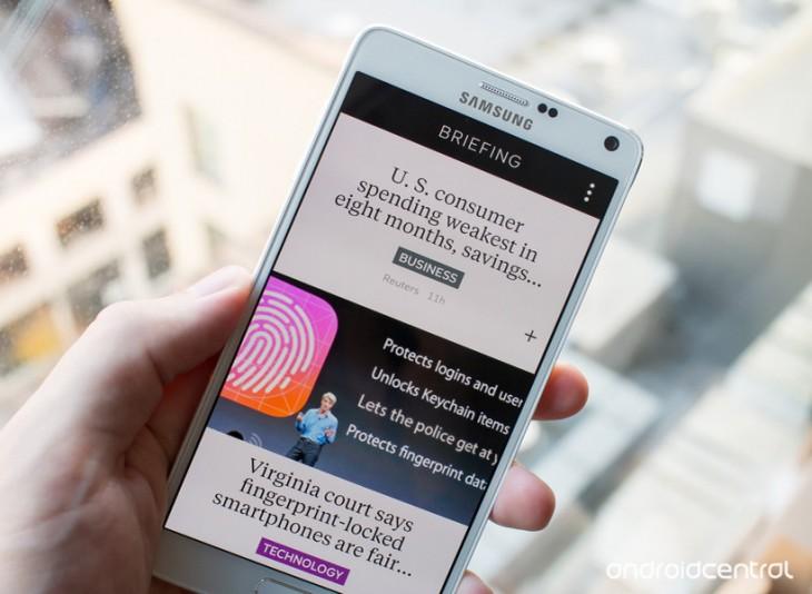 Comment désactiver » Briefing » sur le Galaxy Note 4