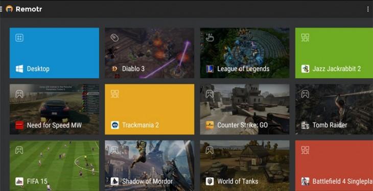 L'application Remotr vous permet de diffuser vos jeux PC sur votre appareil Android