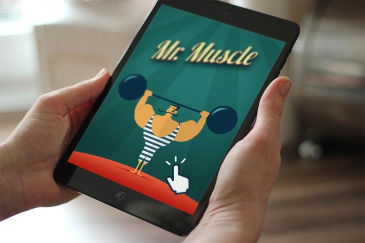 Mr Muscle est l'un des jeux les plus simples basé sur le Tap
