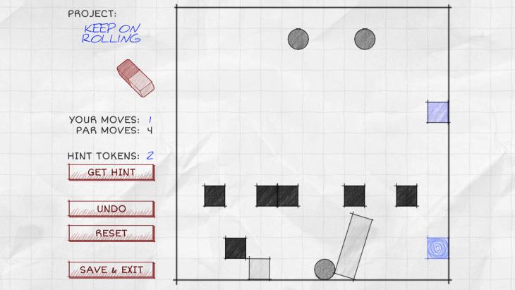 TransPlan est un jeu qui utilise les lois de la physique pour déplacer un objet d'un point A à B