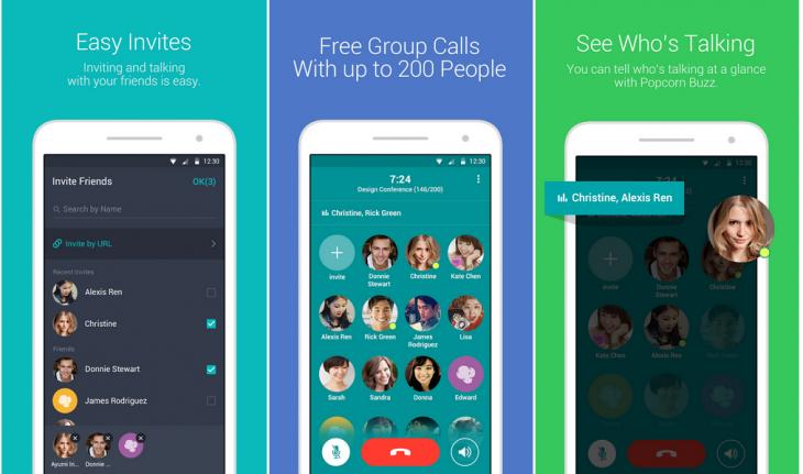 LINE propose une nouvelle application d'appel de groupe avec Popcorn Buzz