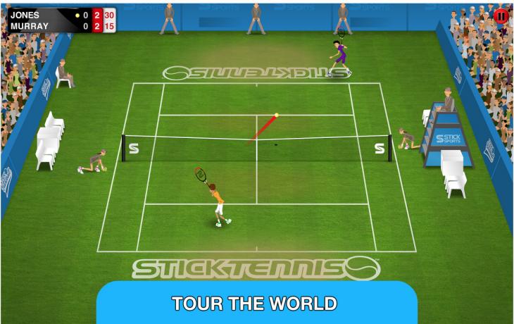 Devenez le champion du monde avec le jeu Stick Tennis Tour