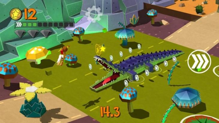Aider cet oiseau Dodo à glisser, sauter et courir à l'infini dans Cartoon Survivor