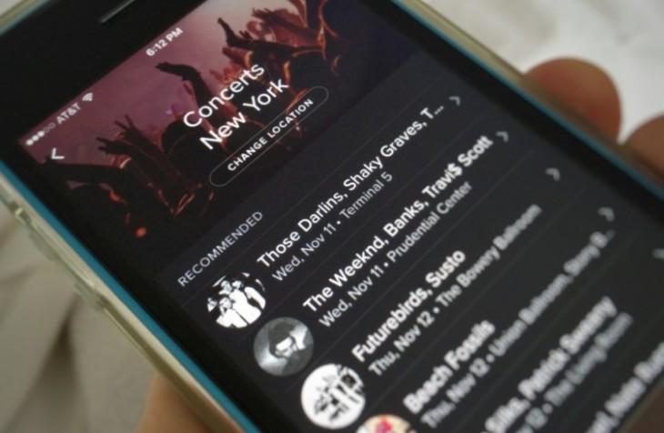 Spotify propose les dates de concert de vos artistes préférés