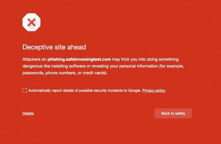 Le Google Safe Browsing est disponible sur Chrome pour Android