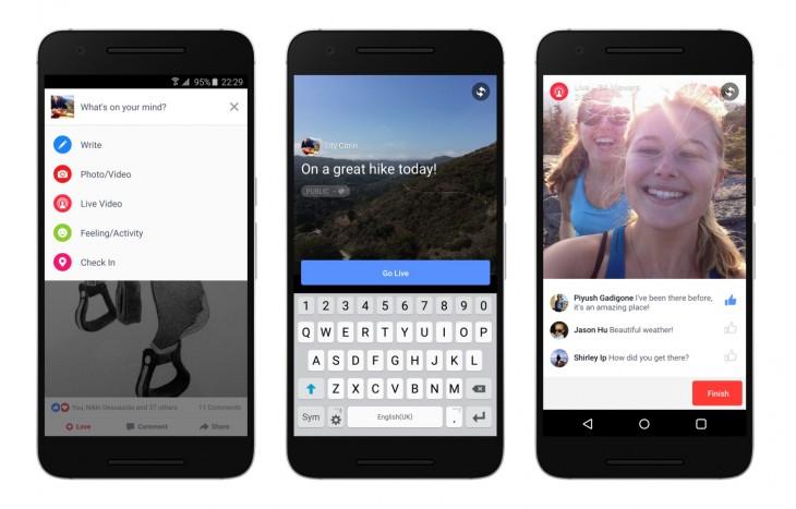 Facebook Live est disponible pour les utilisateurs Android aux USA
