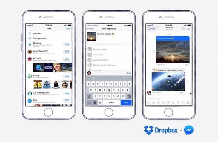 Facebook Messenger vous permet de partager des fichiers depuis Dropbox