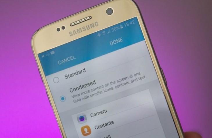 L'adaptation de l'affichage est désormais disponible sur le Galaxy S7
