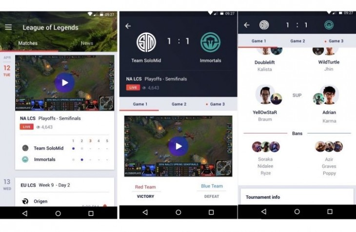 Yahoo lance une application Android pour l'Esport