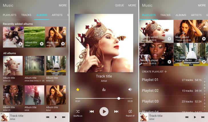 L'application Samsung Music est disponible pour le Galaxy S6 et le Galaxy Note 5