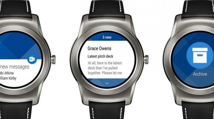Outlook possède désormais une application Android Wear