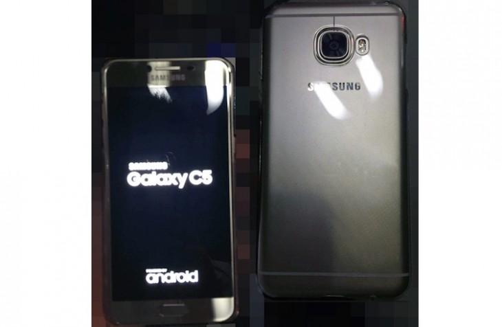 Des images du Galaxy C5, design métallique et ultrafin