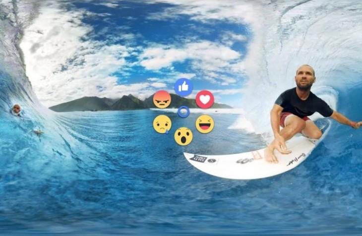 Les vidéos Facebook 360 dans Gear VR bénéficient des Réactions