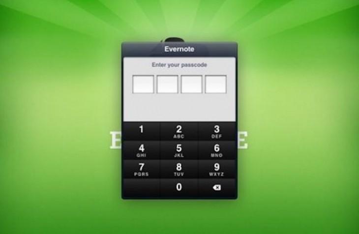 Evernote propose le verrouillage par Passcode à tous les utilisateurs