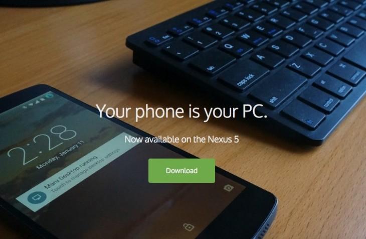Maru OS est disponible pour le public, en tout cas pour le Nexus 5