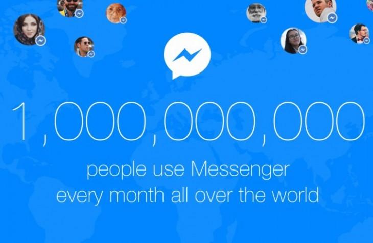 Facebook Messenger atteint 1 milliard d'utilisateurs actifs par mois