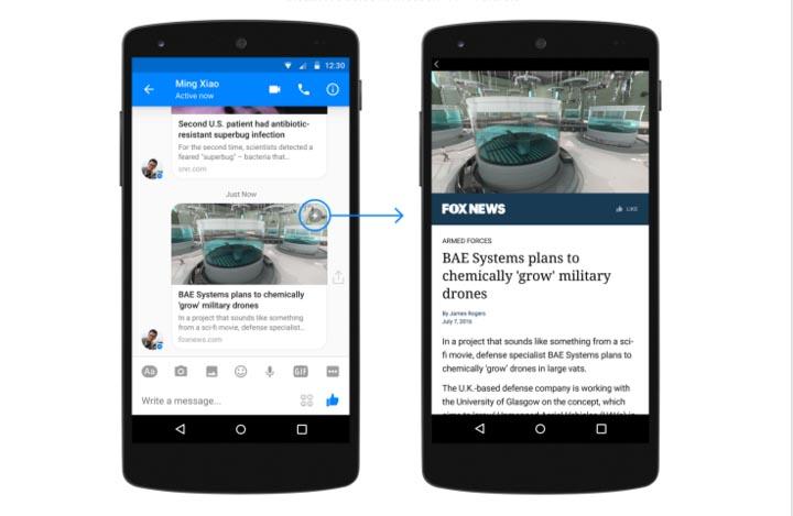 Les Instant Articles sont désormais disponibles pour Messenger sur Android
