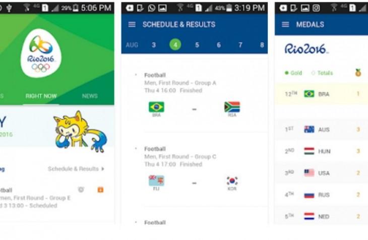 L'application Rio 2016 se met à jour pour les JO
