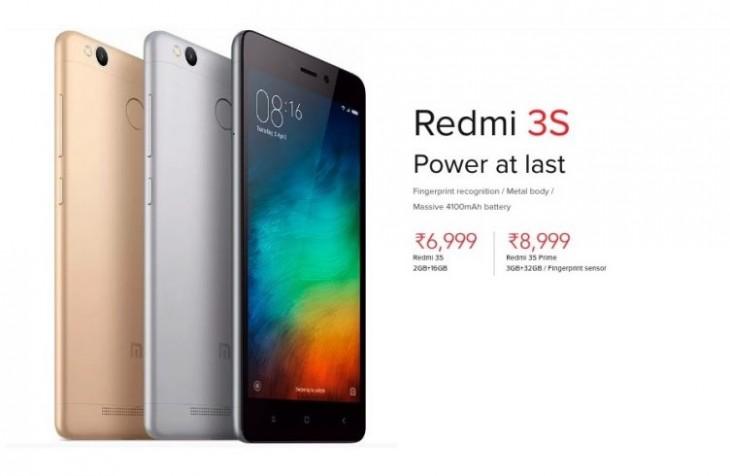 Xiaomi Redmi 3S disponible en Inde, un scanneur d'empreinte et une batterie de 4 100 mAh
