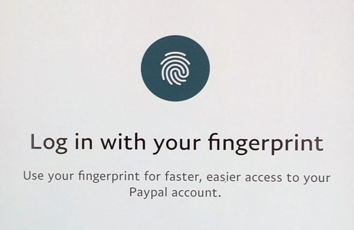 Paypal propose le support d'API du scan d'empreinte sur Android