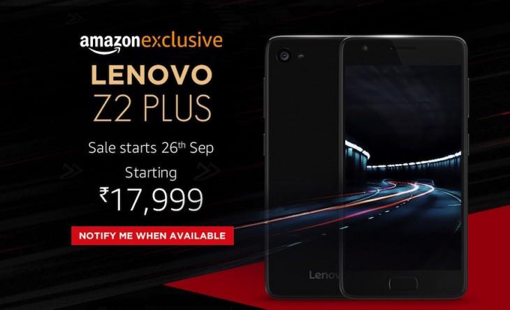 Le Lenovo Z2 Plus dévoilé en Inde en tant que le ZUK Z2