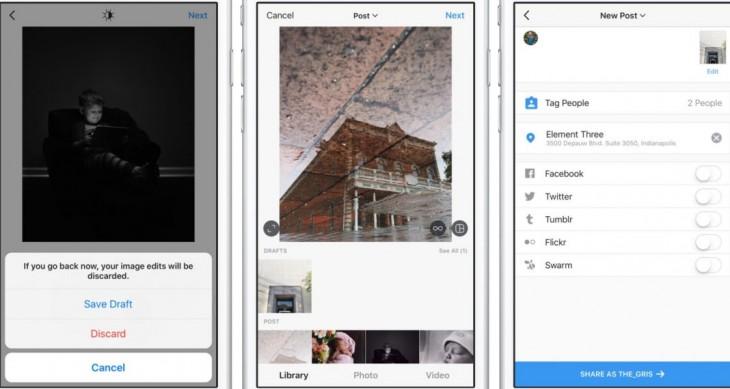 Instagram vous permettra bientôt de créer des brouillons