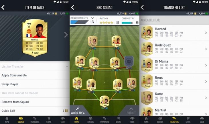 L'application assistante de FIFA 17 est disponible pour créer votre équipe ultime