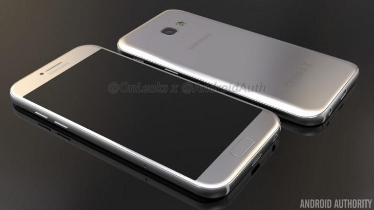 Des rendus du Galaxy A5 en 2017, ressemble au Galaxy S7
